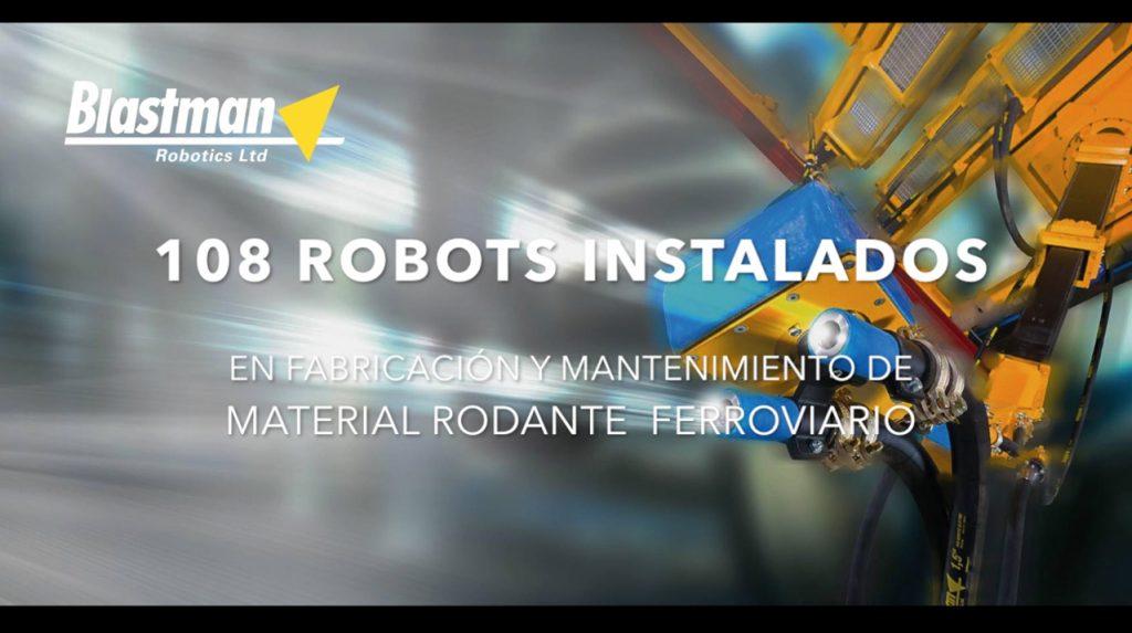Referencias robots de chorreado material rodante ferroviario